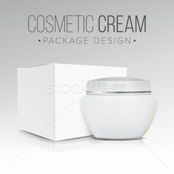 Cosmetic Packaging Design Vector. Paper Or Cardboard Box. Good For Cosmetics Products Design. Stock photo © pikepicture