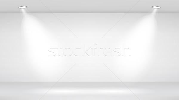 Photo Studio Room. Empty White Interior. Vector Template Illustration. Vector Illustration. Stock photo © pikepicture