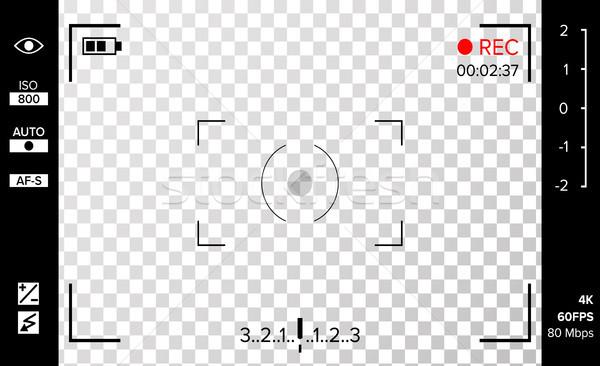 Cámara vector foto cámara de vídeo red disparo Foto stock © pikepicture