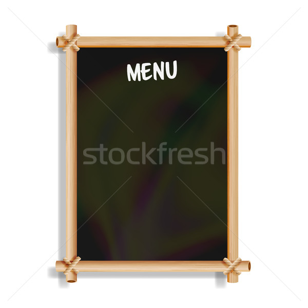 Menu Board. Cafe Or Restaurant Menu Bulletin Black Board. Isolated On White Background. Realistic Bl Stock photo © pikepicture
