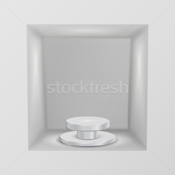 Empty Showcase, Niche Vector. Abstract Clean Empty Shelf, Niche In The Wall. Good For Presentations. Stock photo © pikepicture