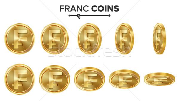 3D gouden munten vector ingesteld realistisch illustratie Stockfoto © pikepicture