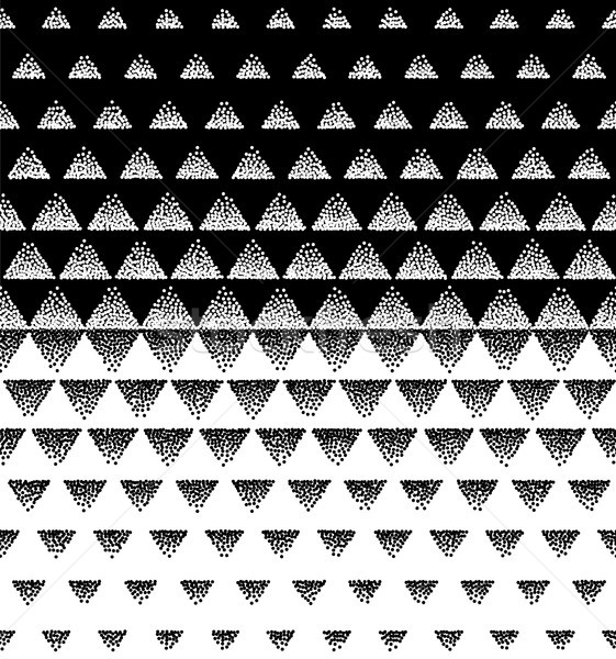 Halftone Triangular Pattern Vector. Black and White Triangle Halftone Grid Gradient Pattern Geometri Stock photo © pikepicture