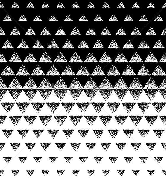 полутоновой шаблон вектора черно белые треугольник сетке Сток-фото © pikepicture