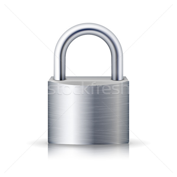 Realista cerrado candado vector acero bloqueo Foto stock © pikepicture