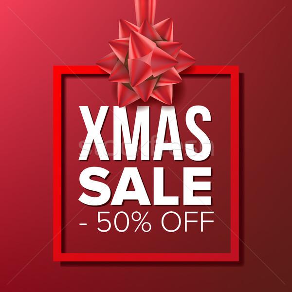 Christmas Sale Banner Vector. Big Super Sale. Cartoon Business Brochure Illustration. Winter Design  Stock photo © pikepicture