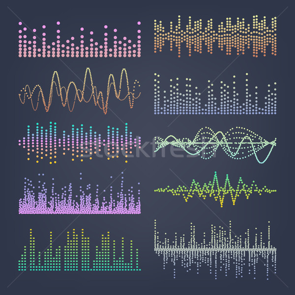 Music Sound Waves Vector. Classic Sound Wave From Equalizer. Audio Technology, Musical Pulse. Illust Stock photo © pikepicture
