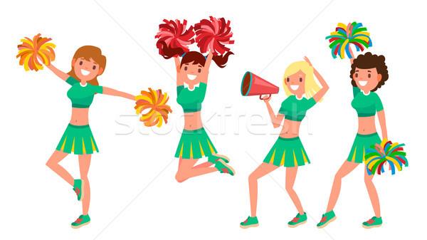 Zespołu wektora działania sportu fan taniec Zdjęcia stock © pikepicture