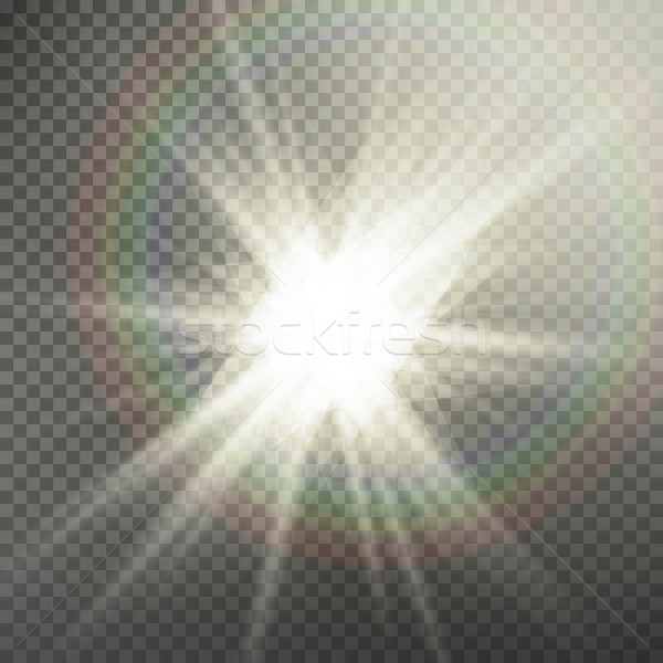 Sunlight Special Lens Flare Light Effect. Light Flare Special Effect. Isolated On Transparent Backgr Stock photo © pikepicture