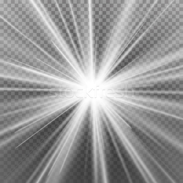 Light Flare Special Effect. Abstract Image Of Lighting Flare. Isolated On Transparent Background. Ve Stock photo © pikepicture