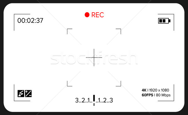 Camera Viewfinder Vector. Exposure And Video Camera Settings. Template Stock photo © pikepicture