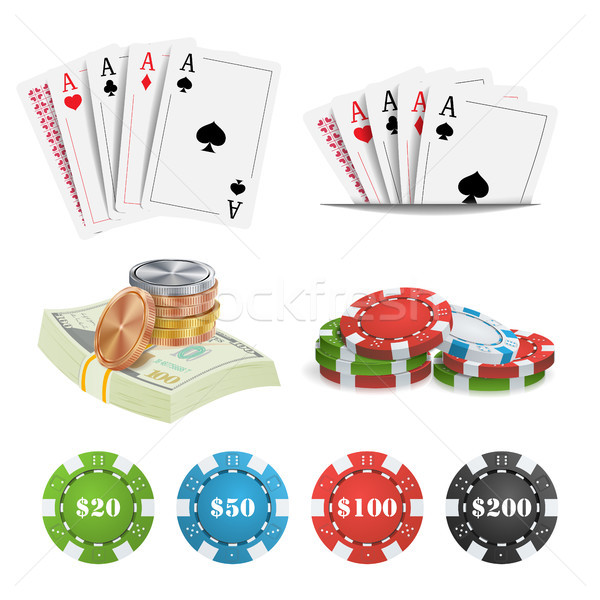 Casino design vecteur poker cartes Photo stock © pikepicture