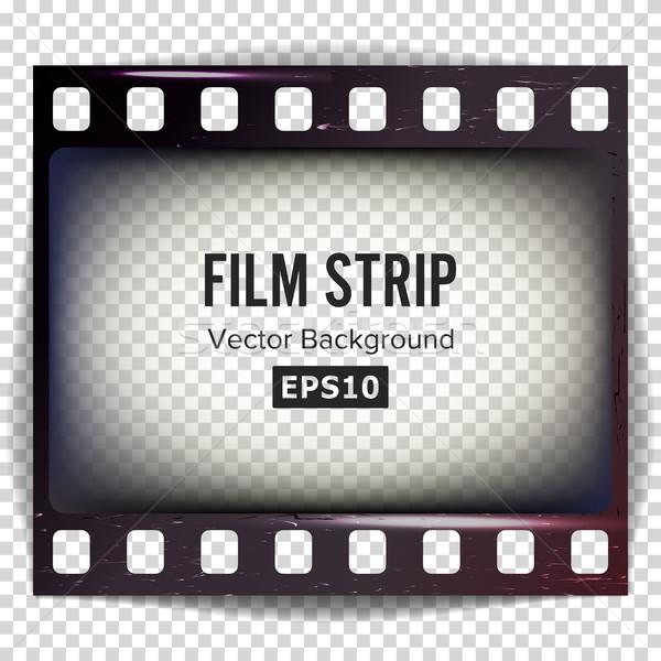 Filmstrip vector frame geïsoleerd transparant abstract Stockfoto © pikepicture