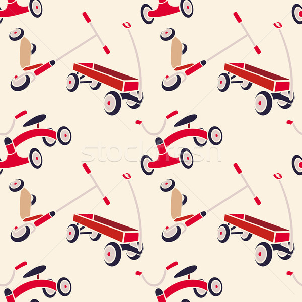 Vector Pattern 50s. Backdrop 1950s retro style. Stock photo © pikepicture