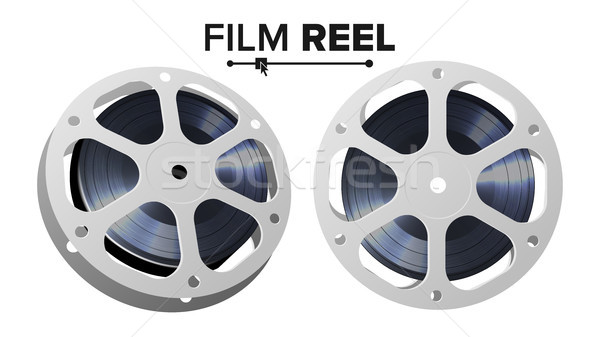 Film reel vector retro film object klassiek Stockfoto © pikepicture
