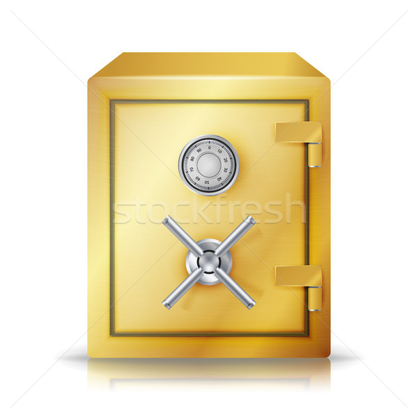 Metal Safe Realistic Vector. Combination Lock. Vector Illustration Stock photo © pikepicture