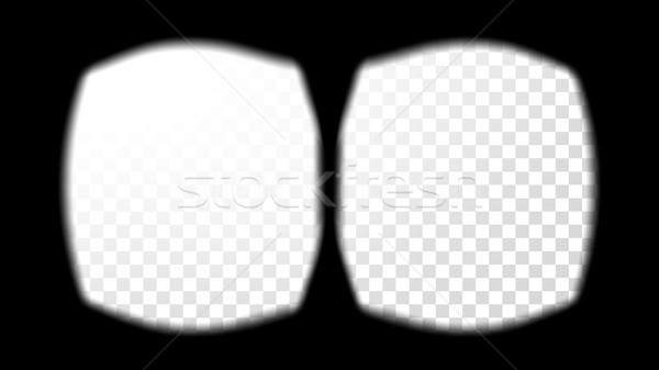 Virtual Reality Glasses Sight View Vector. Screen Frame Template. VR Technology. Stereoscopic Screen Stock photo © pikepicture