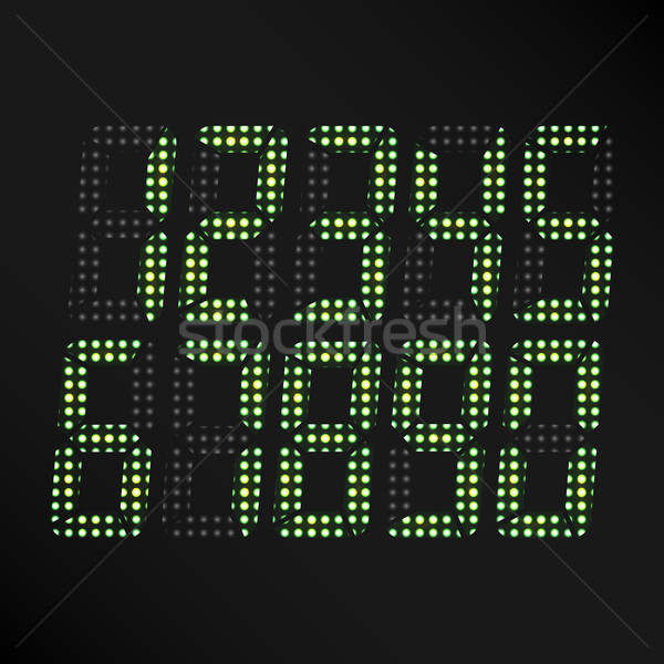 Digital Glowing Numbers Vector Stock photo © pikepicture