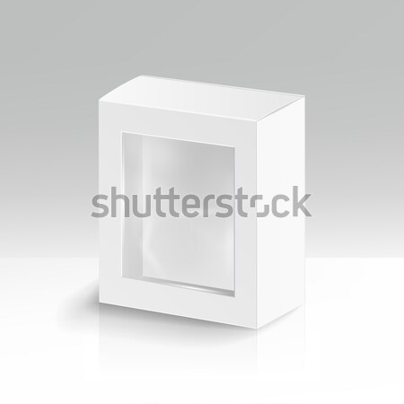 Fehér karton téglalap vektor valósághű felfelé Stock fotó © pikepicture