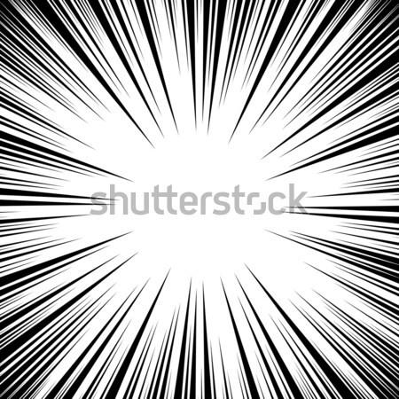 Манга скорости линия набор вектора Гранж Сток-фото © pikepicture