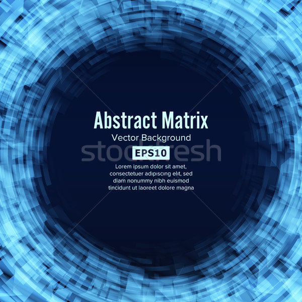 Sci-fi Abstract Matrix Futuristic Technology Background Stock photo © pikepicture