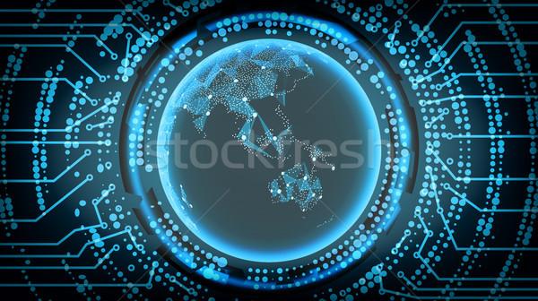 будущем технологий Океания бизнеса интернет фон Сток-фото © pikepicture
