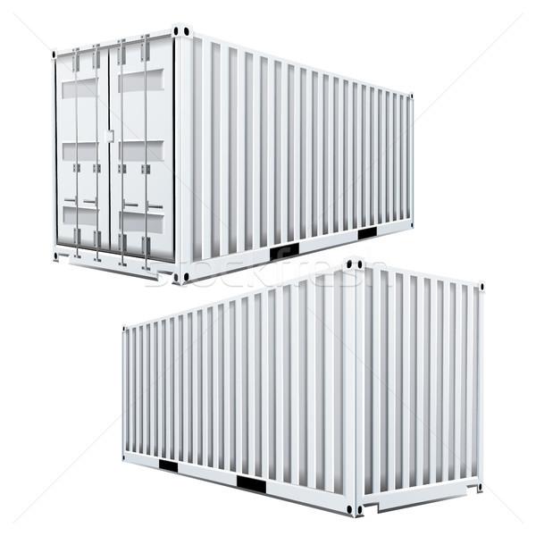 Blanco carga contenedor 3D vector clásico Foto stock © pikepicture