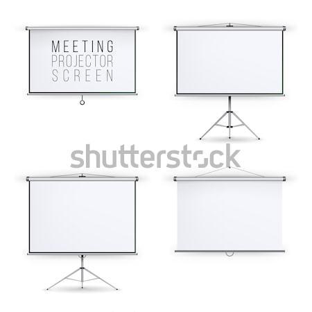 Megbeszélés projektor képernyő vektor szett fehér tábla Stock fotó © pikepicture