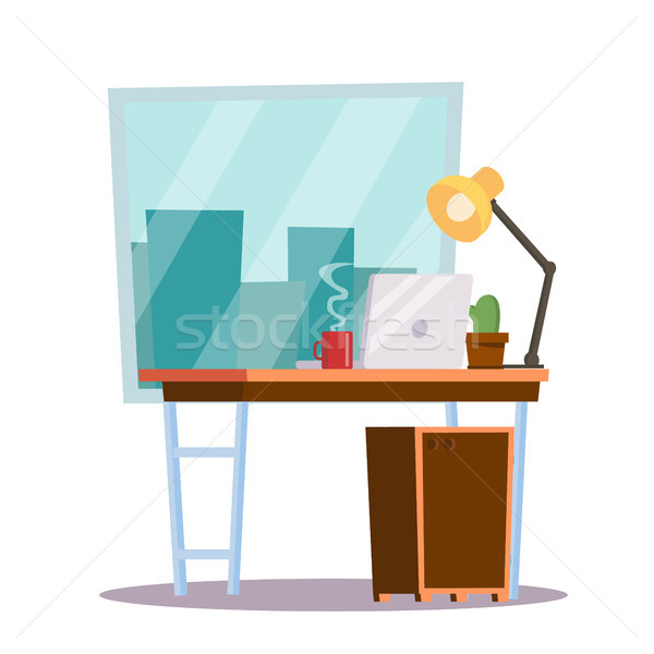 Iroda munkahely vektor irodai asztal klasszikus munka Stock fotó © pikepicture