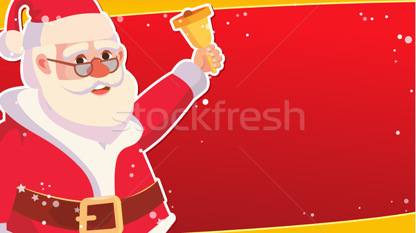 Big Christmas Sale Banner Template With Happy Santa Claus. Vector. Holidays Sale Announcement. Busin Stock photo © pikepicture