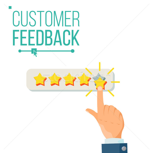 Customer Giving Rating Vector. Five Star Rating. Review Concept. Isolated Flat Illustration Stock photo © pikepicture
