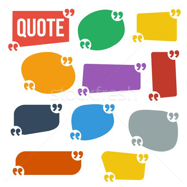 Quote Frame Set Vector. Frame For Text Comment Template. Isolated Illustration Stock photo © pikepicture