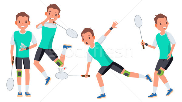 Tollaslabda férfi játékos férfi vektor atléta Stock fotó © pikepicture