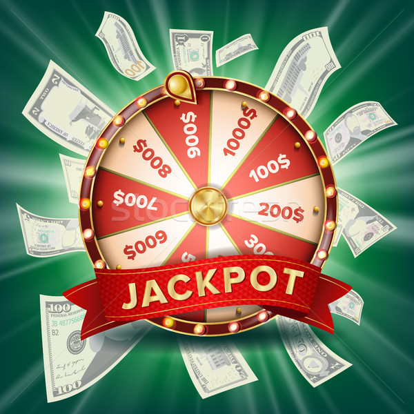 Fortune Wheel Banner Vector. Colorful Wheel. Gambling Jackpot Background. Glowing Casino Club Illust Stock photo © pikepicture