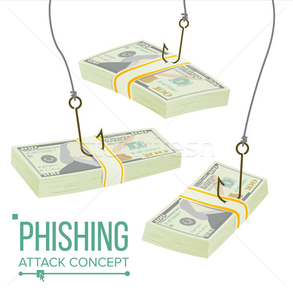 Phishing Money Concept Vector. Fraud Theft Protection. Leakage Information. Economic Crisis. Cartoon Stock photo © pikepicture