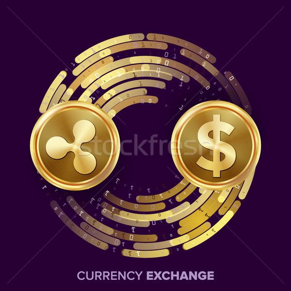 Digitale valuta soldi scambio vettore ripple Foto d'archivio © pikepicture
