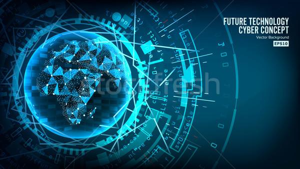 Futuristico tecnologia connessione struttura vettore abstract Foto d'archivio © pikepicture
