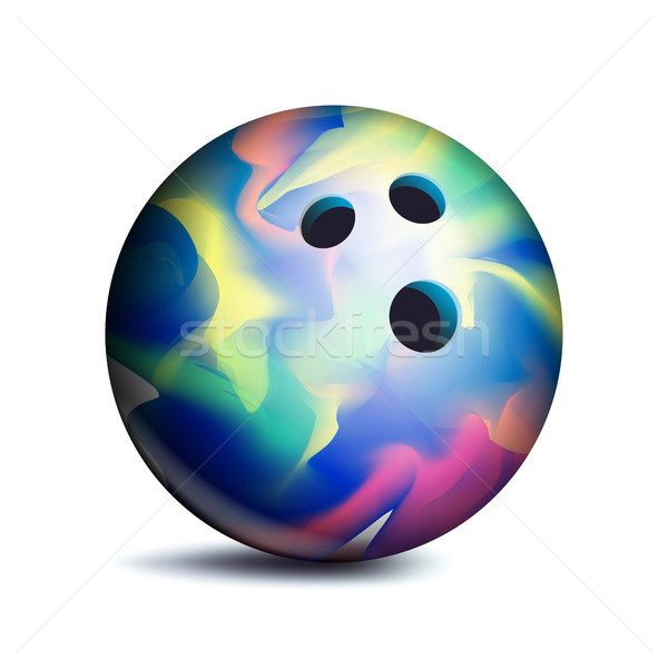 Bowling Ball Vector. Sport Game Symbol. Illustration Stock photo © pikepicture