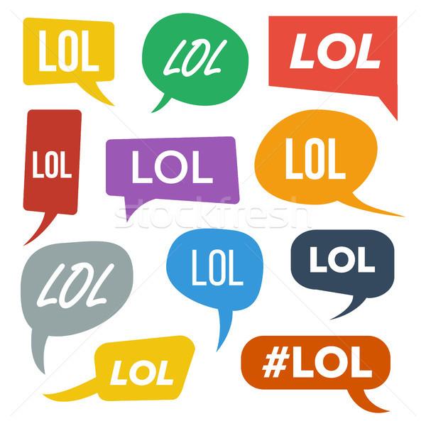 笑 吹き出し ベクトル 楽しい シンボル 感情 ストックフォト © pikepicture
