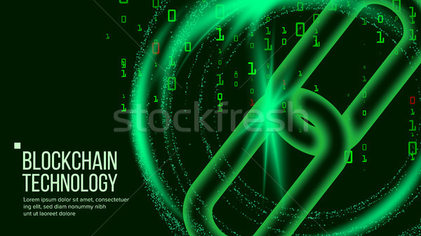 Blockchain Vector. Distributed Ledger Technology. Network Background Illustration Stock photo © pikepicture