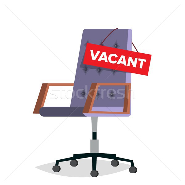 Vacancy Vector. Office Chair. Job Vacancy Sign. Empty Seat. Hire Concept. Business Recruitment, HR.  Stock photo © pikepicture