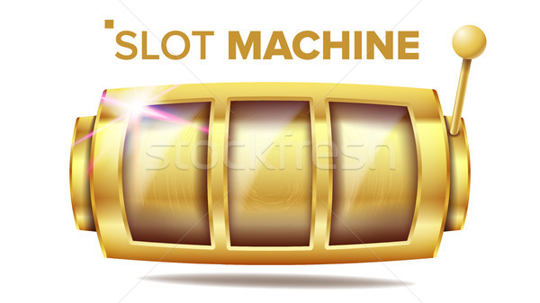 Slot Machine Vector. Golden Lucky Empty Slot. Gambling Poster. Spin Object. Fortune Jackpot Casino I Stock photo © pikepicture