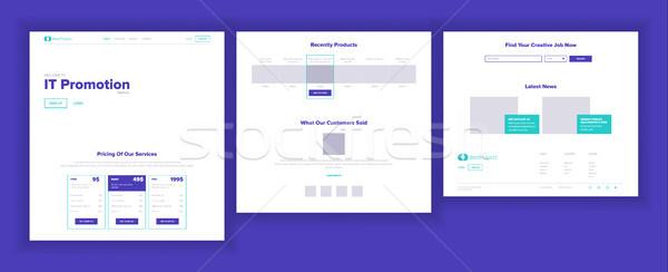 ウェブサイト テンプレート ベクトル ビジネス 技術 ストックフォト © pikepicture