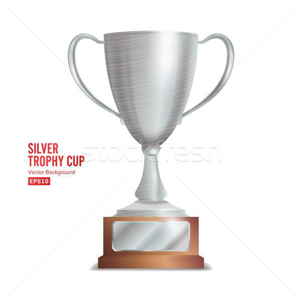 Zilver trofee beker winnaar gunning ontwerp Stockfoto © pikepicture