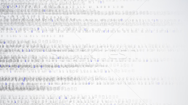 Dwójkowy matrycy stylu objętych numery cyberprzestrzeń Zdjęcia stock © pikepicture