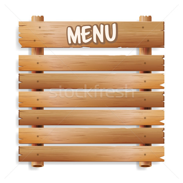Menu Board. Cafe Or Restaurant Menu Bulletin Black Board. Isolated On White Background. Realistic Gr Stock photo © pikepicture