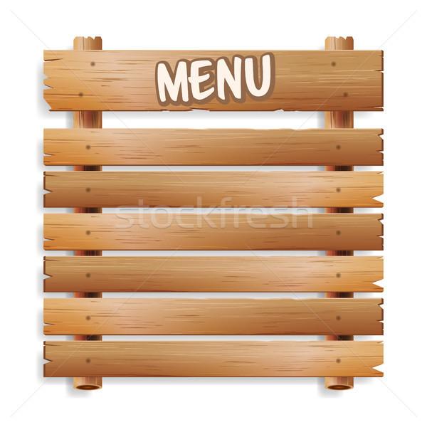 Menu conselho café restaurante boletim Foto stock © pikepicture