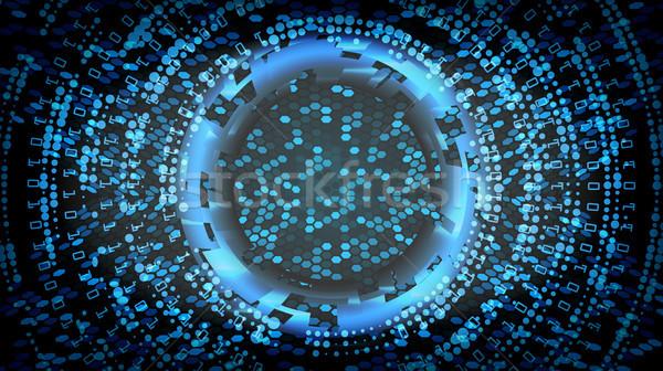 Przyszłości technologii streszczenie bezpieczeństwa cyberprzestrzeń elektronicznej Zdjęcia stock © pikepicture