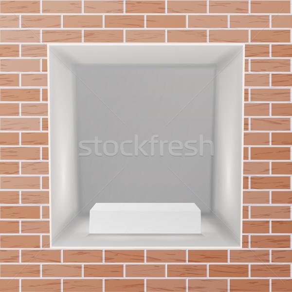 Lege nis vector realistisch muur schone Stockfoto © pikepicture