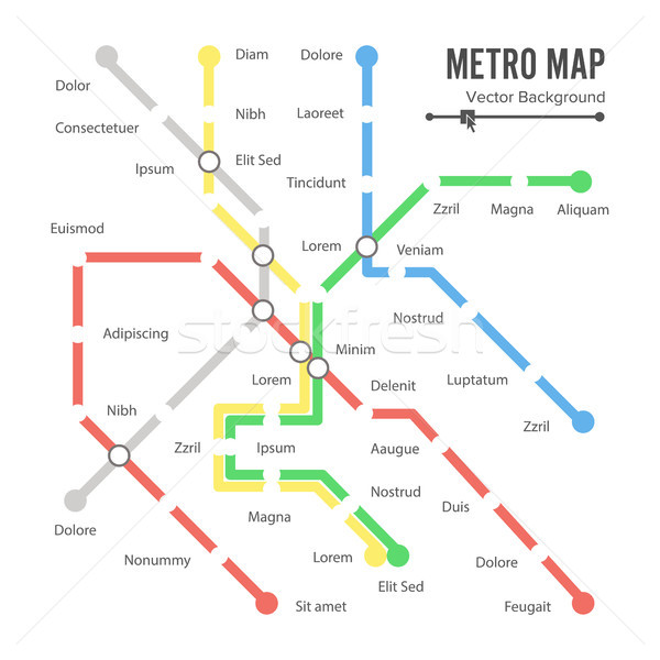 Metro Map Vector. Stock photo © pikepicture